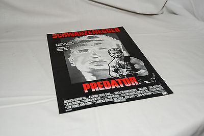PREDATOR vintage cinema Press, Campaign Book ARNOLD SCHWARZENEGGER