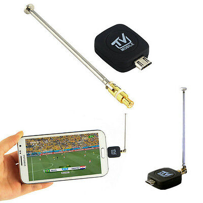 DVB-T USB Micro Digitale Mobile TV Tuner Receiver + Antenna per Android 4.0-6.0