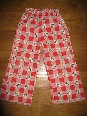 Vintage Buster Brown Corduroy 2/3T Boys Girls Checkered Plaid Mouse Print Pants