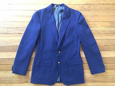 Michael James Boys Size 20R Vintage Navy Blue Blazer Jacket Coat Easter Wedding