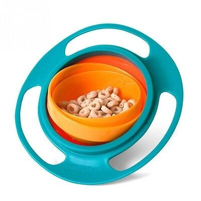 Baby Kid Boy Girl Gyro Feeding Toy Bowl Dishes Spill-Proof Universal 360 Rotate