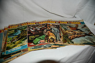 LOOK AND LEARN Joblot 15 1964 Issues 105-119, Children's Educational