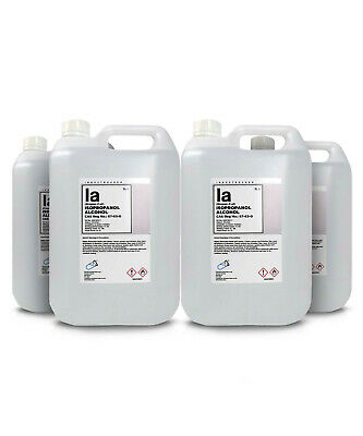 5L x 4 Isopropyl Alcohol IPA PROPAN-2-OL ISOPROPANOL C3H7OH 99.9% (20L in total)
