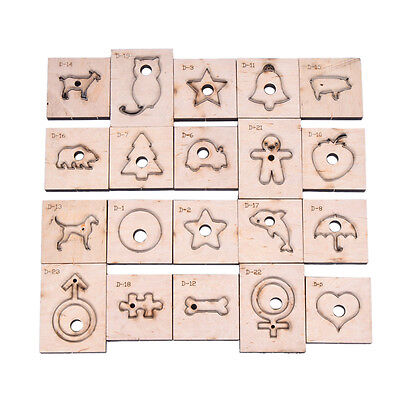 Animal Shape Leather Craft Punch Cutting Mould Template DIY Hand Craft Tool Wood
