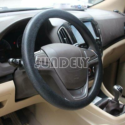 Car steering wheel cover WHEEL Leather Texture Soft Cover Skin HOT Black