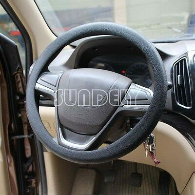 High Quality Car steering wheel cover 36cm - 40cm Silicone Soft Cover, Black