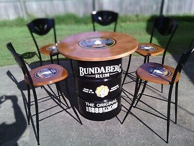 44 Gallon drum Dry Bar Table,  Man Cave, Bar, Pool Room.