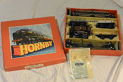 Vintage Meccano Hornby Train Tank Goods Set 40 Gauge O Boxed VGC