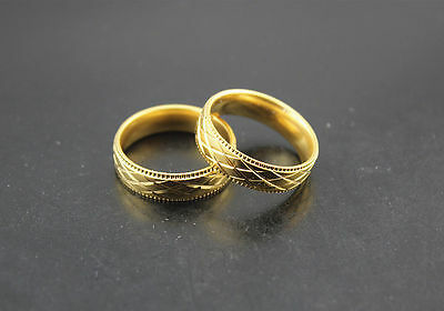 wholesale Lots 27pcs stainless steel Gold Band Fashion Popular Unisex rings