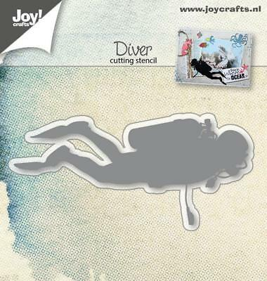Joy Crafts  cutting embossing metal die  scuba Diver diving  underwater