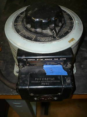 Powerstat variable transformer, variac, 120v in, 0-140v out, 20 amps