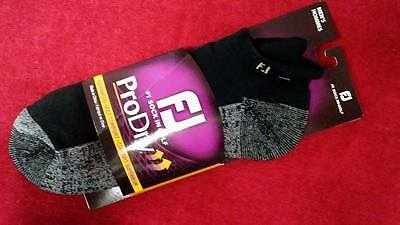 FootJoy Mens ProDry Roll Tab Socks  - Black