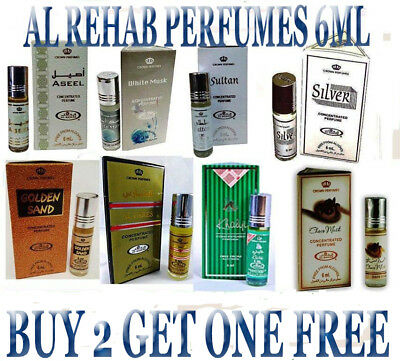 Al-Rehab Oil Perfume Roll-On 6Ml / Alcohol-Free(Buy 2
