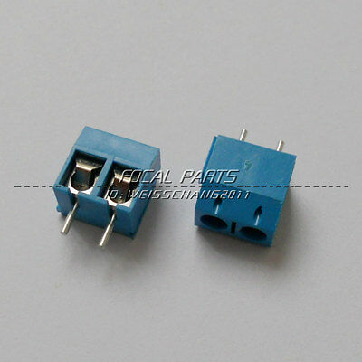 20pcs KF301-2P 2 Pin Plug-in Screw Terminal Block Connector 5.08mm Pitch M211
