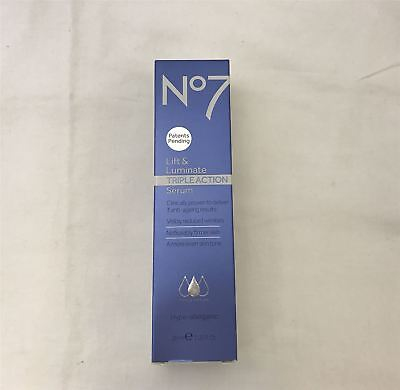 Boots No. 7 Triple Action Lift and Luminate Serum - 30ml [BOXED]