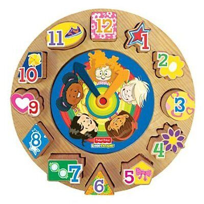 Fisher-Price Little People Discovery Time Puzzle Clock