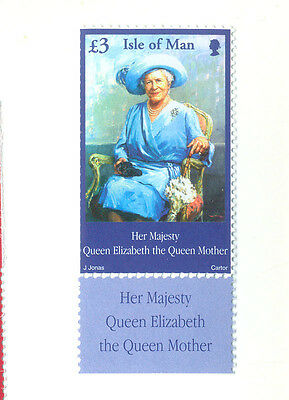 Isle of Man-Queen Mother mnh single (2002) Royalty