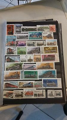 37 timbres Trains (lot 1)