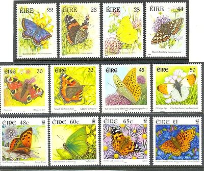 Ireland Butterflies collection 3 complete sets MNH