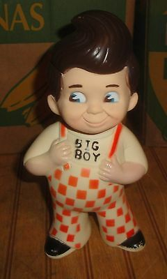 "Vintage 1973 Big Boy Restaurant & Marriott 9"" Vinyl Rubber Doll Coin Bank"