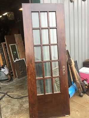 "An 66 Antique All Beveled Glass Oak Entrance Door 30"" X 83"""