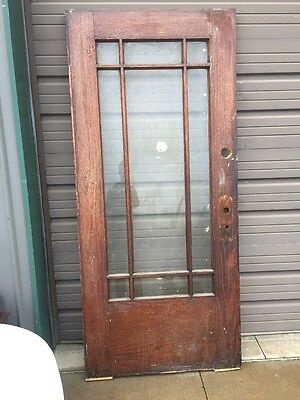 An 67 Antique Oak Flat Glass Entrance Door 35 And Three-Quarter By 79.5