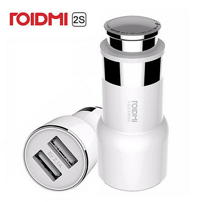 Original Xiaomi ROIDMI 2S 5V Music BT Car Charger 2 USB For Android and iOS
