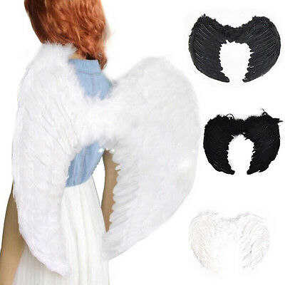 Top Feather Wings Angel Fairy Fancy Dress Costume Halloween Party Favor RS
