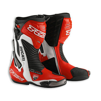 NEW DUCATI Corse 13 Racing Boots SIZE 38 EURO Red/Black/White