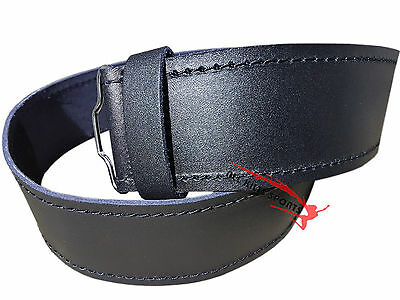 Scottish Highlander Black Leather Plain Kilt Belt