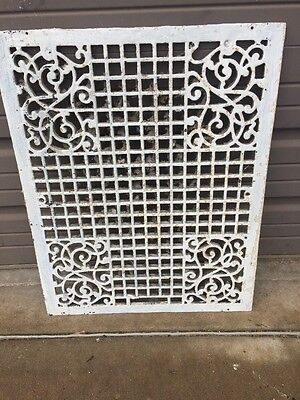 Amg 58 Antique Cast-Iron Decorative Floor Or Wall Grate22.375 X 28.375