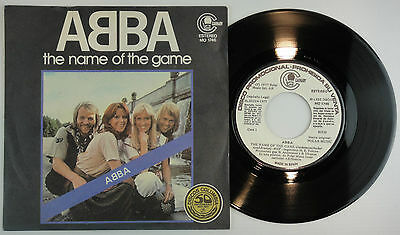 ABBA ‎– The Name Of The Game SG Spain * PROMO * 1977 - Unique Cov - * N.MINT