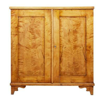 19Th Century Swedish Birch Fitted Cupboard Cabinet