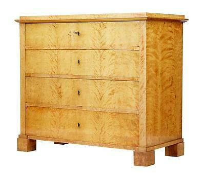 19Th Century Swedish Birch Chest Of Drawers