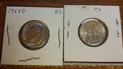 1964 D ROOSEVELT DIME  *BRILLIANT UNC - BU* Free Shipping---ONE DIME--
