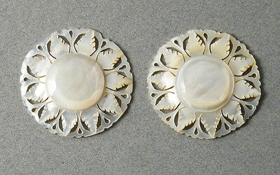 Cut Mother of Pearl Discs/ Vintage China #3