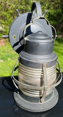 Vintage Industrial Nautical Ship Type Metal Cage Wall Light Fixture Lantern