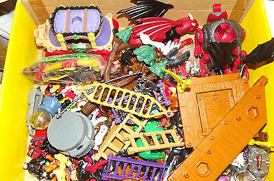 Lot Of 219 Fisher-Price Imaginext Figurines Accessories And Miscellaneous