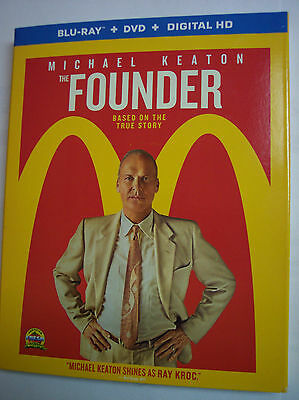 The Founder w/Slipcover (Blu-ray, DVD, 2017, 2-Disc Set, Digital)