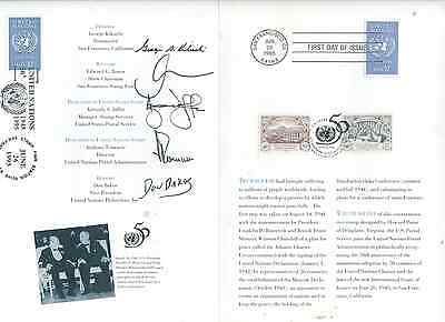 USPS CEREMONY PROGRAM 1993 SIGNED UNITED NATIONS  Sc 2974