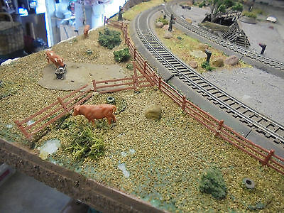 2.45 Mtr Model Railway Layout With Scenery,tracks & Wiring Unfinished Project