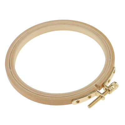 Beech Wooden Embroidery Hoop with Screw for Tapestry Cross-stitch Needlecraft
