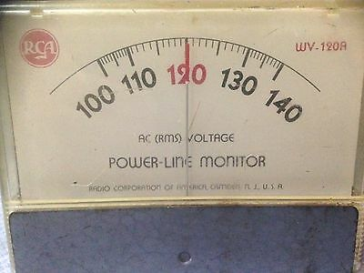 RCA WV-120A Voltage Monitor AC Line Vintage