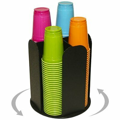 """4 Columns for Cup Dispensing and Lid Holder That Spins. Holds Upto 1/4"""" Coffee"""