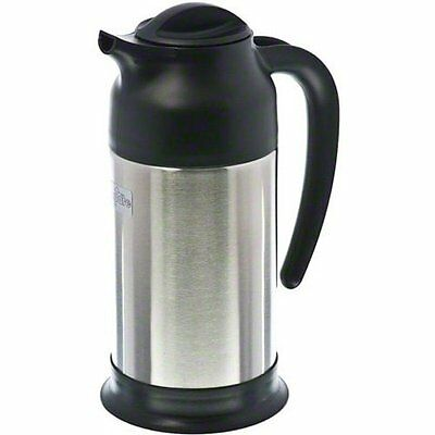 24 Oz Black and Stainless Cream Server for self-serve environments