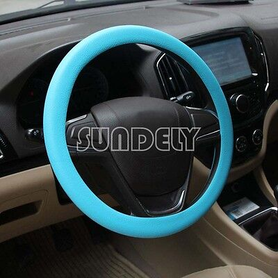 High Quality Car steering wheel cover 36cm - 40cm Silicone Soft Cover, Blue
