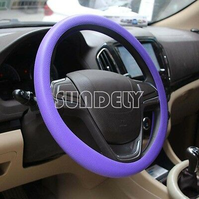 Car steering wheel cover WHEEL Leather Texture Soft Cover Skin HOT Purple