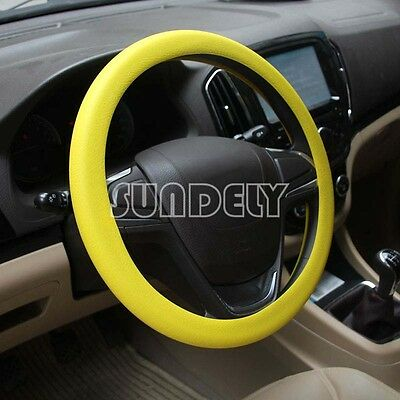 High Quality Car steering wheel cover 36cm - 40cm Silicone Soft Cover, Yellow