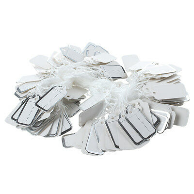 200 X 26X13MM Paper price tags with silver edge S8T0
