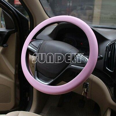 Car steering wheel cover WHEEL Leather Texture Soft Cover Skin HOT Pink